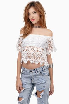 Shayla Crochet Crop Top