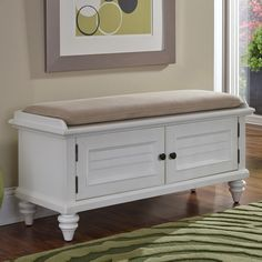 Kenduskeag upholstered storage entryway bench by Breakwater Bay Entryway Organization, Entryway Bench Storage, Corner, Farmhouse Bench, Furniture, Home Decor, Homemade Home Decor, Entry Organization, Home Furniture