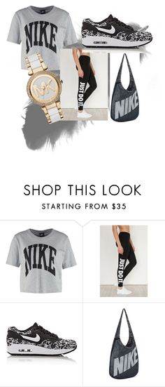 """nike bae"" by funnymomentsxx ❤ liked on Polyvore featuring NIKE and Michael Kors"