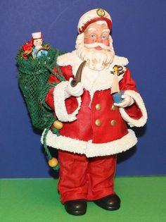 Possible Dreams Nautical Captain Clothtique Santa Claus w/ fishnet toy sack #babescollectibles