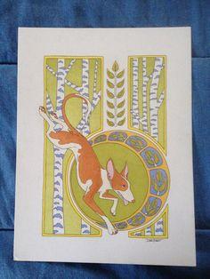 Original Art Nouveau Ibizan Hound& trees by WoodsWatch Ibizan Hound, Birch Trees, Cherries, Blossoms, Art Nouveau, Original Art, The Originals, Unique Jewelry, Handmade Gifts