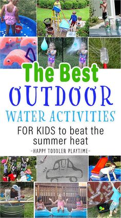 Stay cool and have fun this summer with these 25+ creative but easy water activities for toddlers, preschoolers and older kids! Summer Art Activities, Outdoor Water Activities, Toddler Activities, Preschool Water Activities, Toddler Fun, Toddler Learning, Outdoor Games, Outdoor Art, Learning Activities