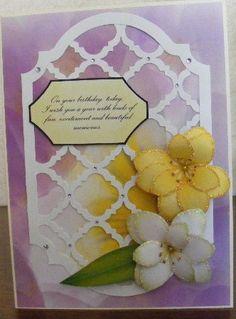 Magnolia and trellis card
