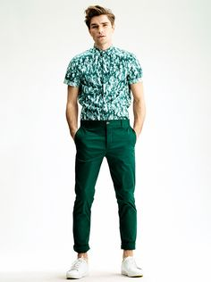 Great idea: wear your color pants from last season with a new print (keep it the same color)