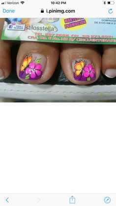 Saaverdra Manicure, Diy Nails, Cute Nails, Pretty Nails, Cute Pedicures, Magic Nails, Toe Nail Designs, Toenails, Toe Nail Art