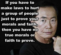 You shouldn't need to make and force laws onto others to prove your faith