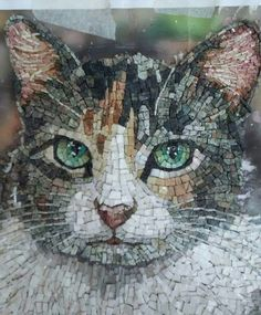 Quite lovely and realistic Mosaic Diy, Mosaic Garden, Mosaic Crafts, Mosaic Projects, Mosaic Glass, Art Projects, Mosaic Designs, Mosaic Patterns, Vitromosaico Ideas