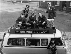 1962/65 The Cherokees; John Woollard asa Roy Starr, briefly, Vocals - Tez Stokes Lead Guitar - David Bower, Rhythm Guitar - Mick Sweeney, Bass Guitar - Jim Green, Drums. They were the first Leeds band to have a hit record with 7 Golden Daffodils which went to No 17 in 1965. In 1966 they changed their name to New York Public Library as Jim Green left and was replaced Mick Ibbotson. Bubblegum Pop, Calum Hood, New York Public Library, Leeds, Cherokee, Rock N Roll, Bass, Monster Trucks, Folk