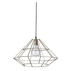 Wire Frame Hanging Lamp in 3 Colours - The Scandinavian designers just seem to always get it so right. This minimalist cage pendant lamp is what I am currently lacking in my life.