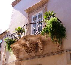 A balcony in Ortygia, Syracuse