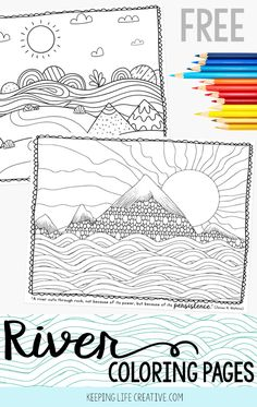 River coloring pages are the perfect complimentary activity when reading river books to kids. Download and print your FREE coloring pages!