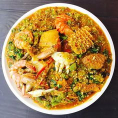 23 Nigerian Foods The Whole World Should Know And Love - With recipes! Nigerian Soup Recipe, Nigeria Food, West African Food, Surf And Turf, Cooking Recipes, Healthy Recipes, Exotic Food, Caribbean Recipes, International Recipes