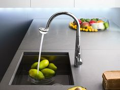 Chrome-plated kitchen mixer tap with pull out spray Kitchen mixer tap Luce Collection by Carlo Nobili S.p.A Rubinetterie