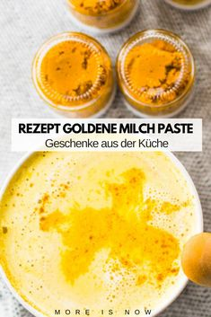 DIY Goldene Milch Paste mit Kurkuma – der Immun Booster für kalte Tage & Free… DIY Golden Milk Paste with Turmeric – The Immune Booster for Cold Days & Free Printable Gift Pendant – More is Now Apple Smoothies, Healthy Smoothies, Smoothie Recipes, Healthy Eating Tips, Healthy Nutrition, Clean Eating, Golden Milk Paste, Detox Recipes, Healthy Recipes