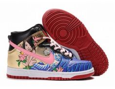 on sale c5219 c4a8e Nike Dunk High Mermaid Womens Shoes - Gold  Pink  Blue  Black -  Wholesale  Outlet Discount Nike Dunk High Shoes sale, Original Nike Dunk  High Premium ...