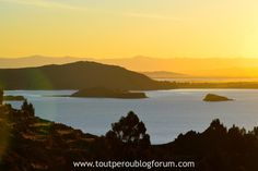 Coucher de soleil sur le lac Titicaca, Pérou Lac Titicaca, River, Celestial, Sunset, Outdoor, Sun, Landscape, Sunsets, Outdoors