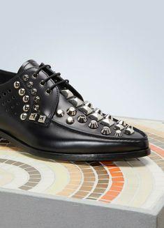 82109e9c781a Prada Mens Black Leather Lace up Studded Shoes #PRADA #Oxfords #Casual  Prada Men