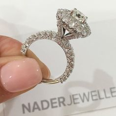 It's all in the detail.. Handcrafted diamond engagement ring made with love by @naderjewellers #NaderJewellers #LoveByNader #Diamonds #DiamondRing #EngagementRing