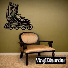 Rollerblading Wall Decal - Vinyl Decal - Car Decal - CDS031