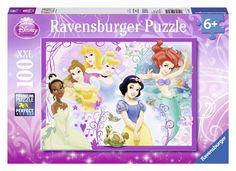 Ravensburger Puzzle - Disney Pretty Princess XXL (100Pcs) (10857)  Manufacturer: Ravensburger Enarxis Code: 016042 #toys #puzzle #Ravensburger #Disney #princess