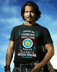 "Such a fake shot. Johnny Depp has NOT been out to Standing Rock, nor does he ever claim ""his Cherokee blood"" unless it serves him. This is a ridiculous photoshopped pic of a man who only stands by us when it serves his career. Native American Wisdom, Native American Indians, Native Americans, Native Indian, Dakota Pipeline, Johny Depp, Love Band, Fight The Good Fight, First Nations"