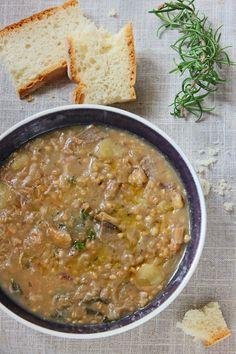 giroVegando in cucina: Zuppa d'orzo con castagne, porcini e patate