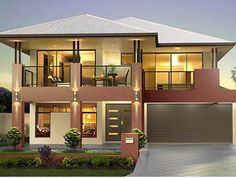 The San Remo Series 1 Upstairs Living two storey home by Great Living Homes is a balance between modern design & innovation, ideal for family living in Perth Cottage Style House Plans, Rustic House Plans, Bedroom House Plans, Modern House Plans, Modern House Design, 2 Storey House Design, Double Storey House, Upside Down House, House With Balcony