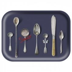 Ary Trays Michael Angove Small Slate Cutlery Tray at Hus and Hem
