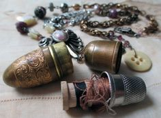 couturier  vintage assemblage necklace with by TheFrenchCircus, $135.00