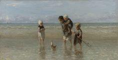 Kinderen der zee, Jozef Israëls, 1872. Het laat het element water zien.