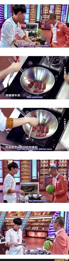 "XD Lay on ""Star Chef""; Ep 01 Eng Sub: https://www.youtube.com/watch?v=BsQ1GC9lOos"