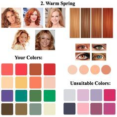 Image result for colors for warm spring color season