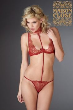 Harness for thong - Jardin Impérial Red - Maison Close