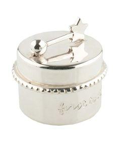 Luxueus uitziend BAMBAM zilveren tandendoosje uit de webshop van Babyaccessoires.eu