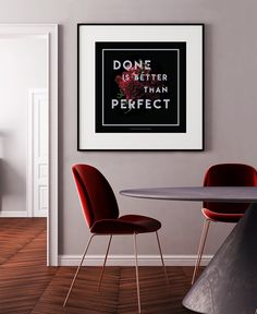 Done is Better Than Perfect -art print / Bloom by Armi Helena Offset Printing, Cardboard Tubes, Dining Room Inspiration, Marimekko, Paper Texture, Cool Art, Fine Art Prints, Dining Chairs, Bloom