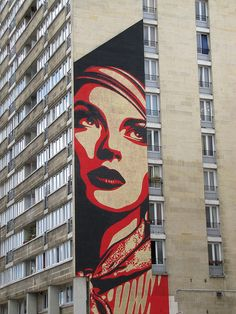 OBEY in Paris #streetart #graffiti #urbanart #arteurbana #artederua #wall #mural