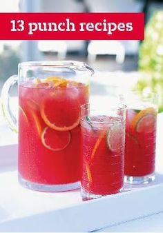 13 Punch Recipes – Our cool and refreshing punch recipes are perfect for parties and ready in minutes. #recipes summer cooking #summerrecipes
