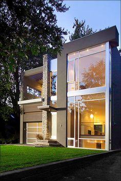 Modern exterior. actually found houses like this in Las Vegas that doesn't cost a million dollars. Hello Next house...:)