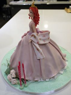Princess Cake ~ hand painted and all edible