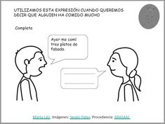 ARASAAC - Materiales: Comprendemos frases en sentido figurado Software, Decir No, Education, Comics, Comic Book, Comic Books, Educational Illustrations, Learning, Comic