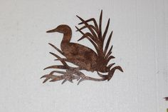 Duck in Reeds Metal Wall Art Country Rustic Hunting Home Decor