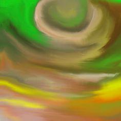Grün-brauner Hintergrund, kreisförmig angeordnet, Handzeichnung, digital bearbeitet Clipart, Adobe, Lights, Drawing Hands, Pretty Pictures, Creative, Nice Asses, Cob Loaf, Lighting