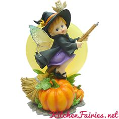 Spooky Halloween Moon Fairie - From Series Twenty Six of the My Little Kitchen Fairies collection
