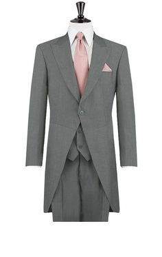 hochzeitsanzug herren grau rosa krawatte anzüge bräutigam