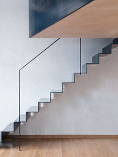 The Clapton Warehouse, a refurbishment by Sadie Snelson Architects showcases a sleek industrial material palette for a photographer's home and workspace (Architecture, residential architecture, warehouse conversion, sadie snelson architects) Metal Railings, Stair Handrail, Staircase Railings, Staircase Design, Stairways, Staircase Ideas, Steel Stairs Design, Staircase Metal, Steel Balustrade