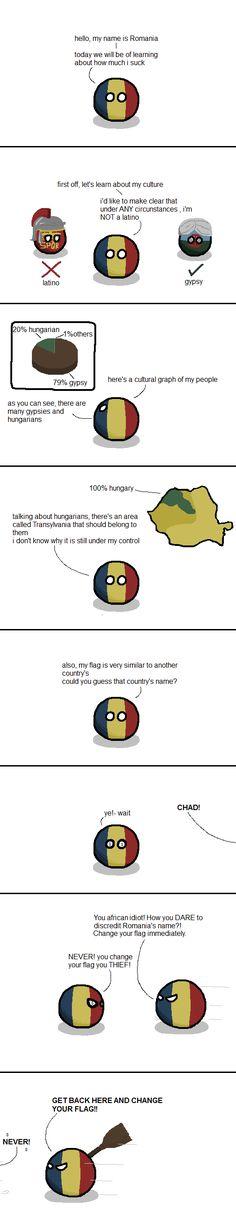 Romania sets things straight : polandball