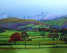 FINEARTSEEN - View From Old Ford Inn, Llanhamlach by Emma Cownie. A beautiful original oil painting of a Welsh landscape. Available on FineArtSeen - The Home Of Original Art. Enjoy Free Delivery with every order. << Pin For Later >> Oil Painting For Sale, Old Fords, Landscape Art, Free Delivery, Original Art, Around The Worlds, Welsh, Artist, Beautiful
