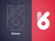 Sixbase-logo - awesome logo for product design company who love making beautiful Interfaces, Icons, Identities & Illustrations. Just not sure about the pink.