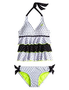 Tiered Pin Dot Tankini Swimsuit | Tankinis | Swimsuits | Shop Justice
