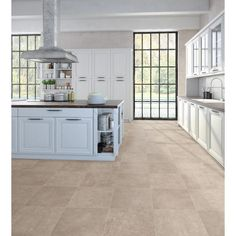 TrafficMASTER Brushed Limestone Neutral 12 ft. Wide x Your Choice Length Residential Vinyl Sheet